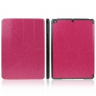ENKAY ENK-3146 Protective PU Leather Case Stand w/ Auto-Sleep Cover for Ipad AIR - Deep Pink + Black