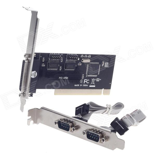 2-Port Serial + 1-Port Parallel PCI Card - Black + Silver