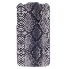 SAYOO 2279 Snakeskin Regulus Series Vertical Open Protective PU Leather Case for Iphone 4S - Black