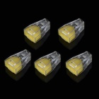 Jtron 2 Hole Wire Terminal Block Connector - Yellow + Transparent (5 PCS)