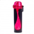 ROLASE RT-6812 High-Quality Leak-Proof Elastic Cover Bottle - Red + Black (500mL)
