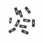 Jtron 2.54mm Lengthened Long-Handled Jumper Cap - Black (10 PCS)