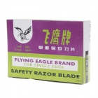 Flying Eagle Replacement Stainless Steel Single Blades - Silver (100 PCS)