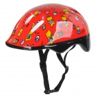 Cartoon Bear Pattern Plastic Protection Kid's Helmet - Red
