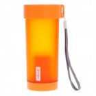 EYKI H5013 High-quality Leak-proof Frosted Bottle w/ Filter Cover / Strap - Orange (350mL)