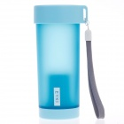 EYKI H5013 High-Quality Leak-Proof Frosted Bottle w/ Filter Cover / Strap - Blue (350mL)