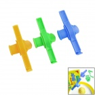 Kitchen Food Seasoning Bag / Discharging Mouth Storage Clamps Sealing Clips - Yellow + Green + Blue