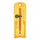BAOYI G963 Indoor / Outdoor Acrylic Thermometer - Orange