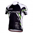 TOPCYCLING SAD209 Outdoor Cycling Men\s Short Jersey Clothes - Black + White (Size L)