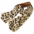 Fashion Leopard Pattern Chiffon Scarf for Women - Yellow + Black