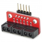 OPENJUMPER 3-Channel Gray Sensor Module - Red + Black