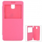 Y-1 Protective PU Leather Case w/ Display Window for Samsung Galaxy Note 3 N9006 / N9002 - Deep Pink