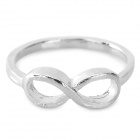 LX-J21 Fashion Bowknot Style Zinc Alloy Finger Ring for Women - Platinum