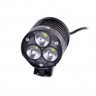 SolarStorm XT30 3-LED 2640lm 4-Mode White Bike Light / Headlamp - Black (4 x 18650)