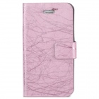 Protective Flip Open PU Leather Case w/ Auto Sleep for Iphone 4 / 4S - Pink