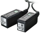 CCTV via Cat-5 Twisted Pair Video Balun Transceivers with Extension Cable (Pair)