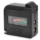 BT-860 ABS 1.5V / 9V Battery Tester - Black + Red