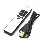 PP991 USB Rechargeable 2.4GHz Wireless PPT Flip Red Laser Pinter + Mouse - White