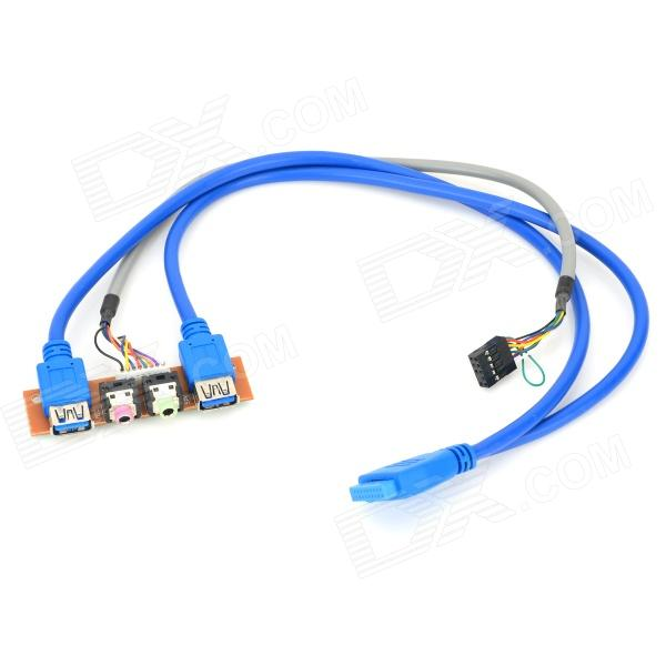 20-Pin a USB 3.0 hembra + cable de audio para panel frontal del chasis