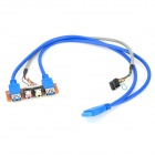 20-Pin to USB 3.0 + USB 2.0 Female + Audio Extension Cable for Chassis Front Panel - Deep Blue