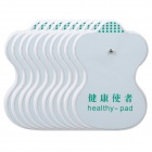 Electric Massager Electrode Patches Pads - White Diamond + Black (5 Pairs)