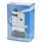 10081-8 20~40X Mini Portable Microscope - Silver + Black
