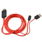 Mobile Phone to HDTV Medialink Micro 5-Pin USB to HDMI MHL Cable for Samsung / HTC / Nokia - Red
