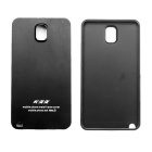 Protective Brushed Titanium Alloy Bumper Frame w/ Back Cover for Samsung Galaxy Note 3 - Black