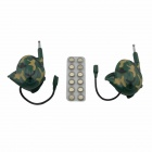 KAIYUE 9110 4W 408~410MHz Headset Walkie Talkies - Green (2 PCS / 6 x AG10)