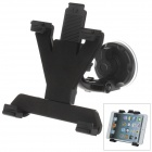 "360 Degree Rotation Holder Mount w/ H17 Suction Cup + C60 Back Clamp for 7~10"" Tablet PC - Black"