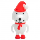 Christmas Dog Style USB 2.0 Flash Drive - White + Red + Multicolored (16GB)