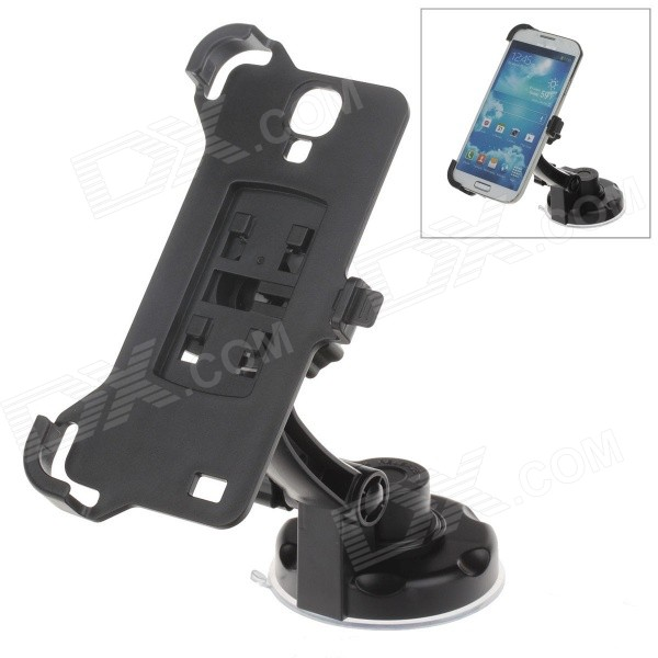 360 Degree Rotation Holder Mount w/ H17 Suction Cup + Back Clamp Bracket for Samsung Galaxy S4 i9500 360 degree rotational car mount holder w suction cup for samsung galaxy note 3 n9000 n9002