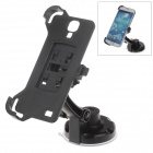 360 Degree Rotation Holder Mount w/ H17 Suction Cup + Back Clamp Bracket for Samsung Galaxy S4 i9500