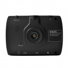 "DAZA A17a 2.4"" TFT LCD 720p 5.0 MP Wide Angle Car DVR w/ G-sensor / Av-Out /TF - Black"