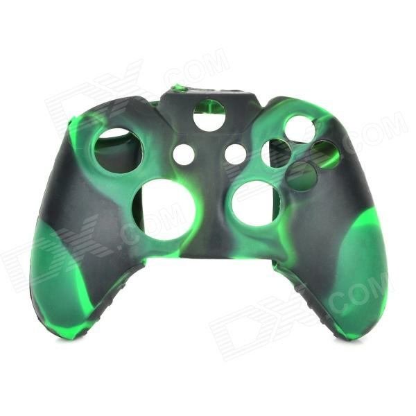 Protective Silicone Case for XBOX One Controller - Grass Green + Black another one bites the grass