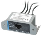 4-CH CCTV via Cat-5 Twisted Pair Passive Video Balun Transceiver