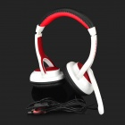 OVLENG S888 Professional Headphones w/ Microphone - White + Red (3.5mm Plug / 195cm)