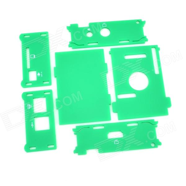 Protective Acrylic Case Enclosure for Raspberry Pi - Green tengying l298n motor driver board for raspberry pi red