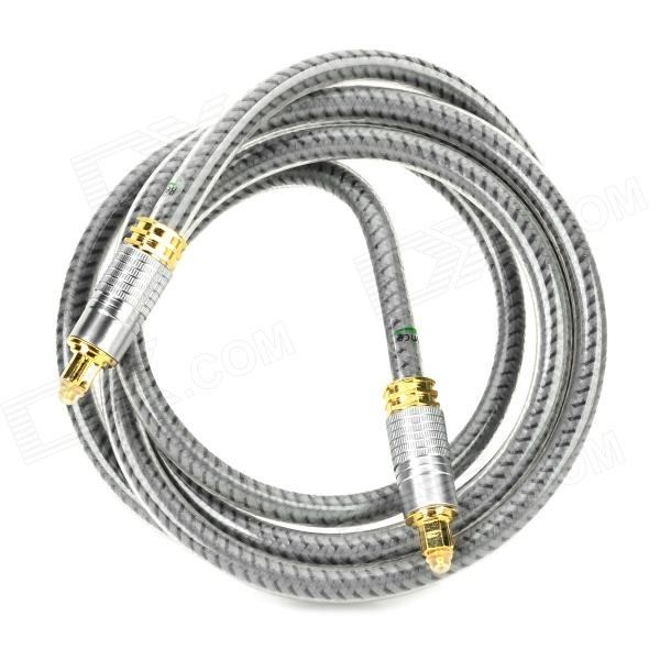 Toslink Male to Male Digital Optical Fiber Amplifier Connection Cable - Grey (180CM) new and original e3x da11 s omron optical fiber amplifier photoelectric switch 12 24vdc