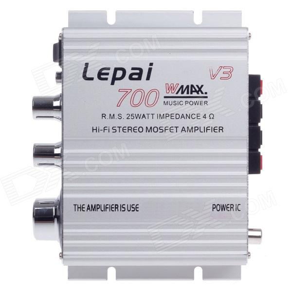 Lepai LP-V3 25W 2-CH Multifunction Stereo Car Audio Power Amplifier - Silver rebekka bakken rebekka bakken most personal 2 lp