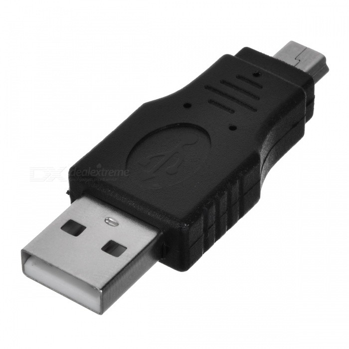 macho USB para adaptador mini conector macho USB - preto