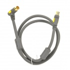 SP101 High Quality RF Cable for HDTV - Grey + Golden (100cm)