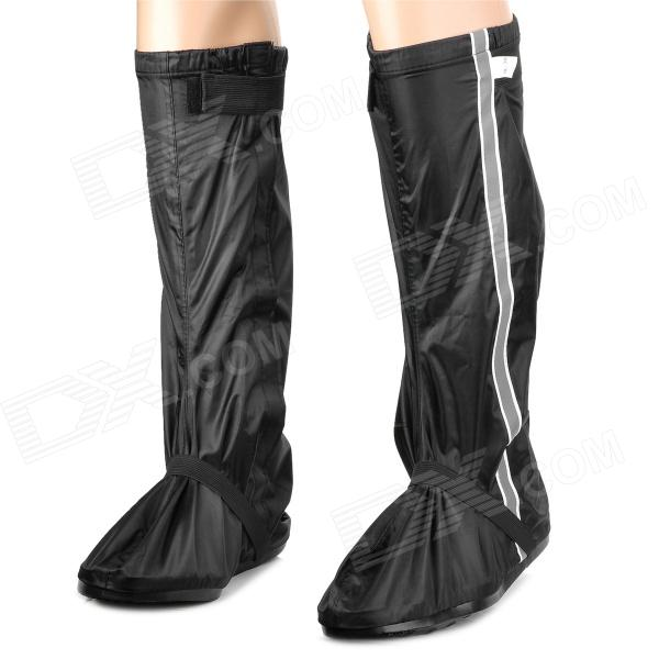 DaYuPai Motorcycle Bicycle Rainproof Shoe Covers - Black + White (Size 46~47)