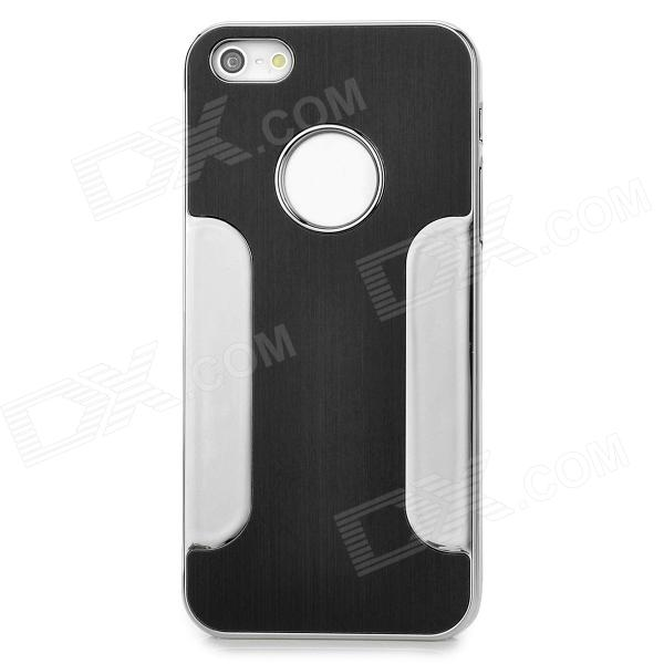 DETI-002 Protective PC Alloy Back Case for Iphone 5 / 5s - Black + Silver
