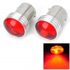 1156 2W 60lm 6-SMD 3030 LED Red Car Steering Lights (12V / 2 PCS)