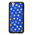 XX-1 Stars Pattern Protective Plastic Glow-in-Dark Back Case for Iphone 5C - Deep Blue