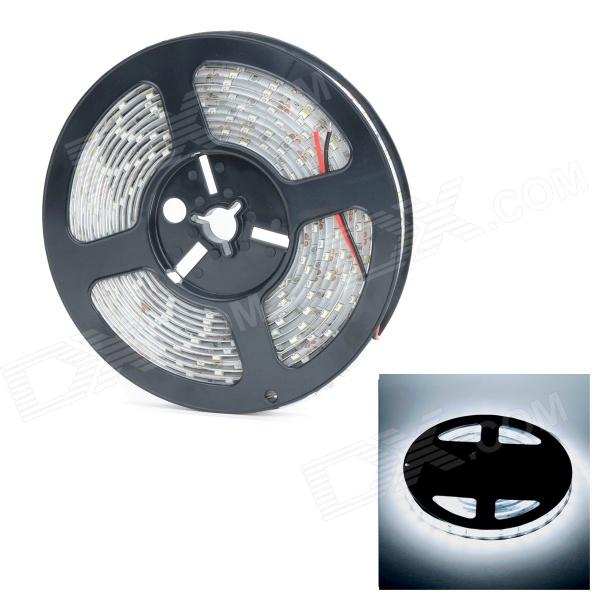 Waterproof 72W 300-LED Cold White Car Decoration Light Strip 12V / 5M