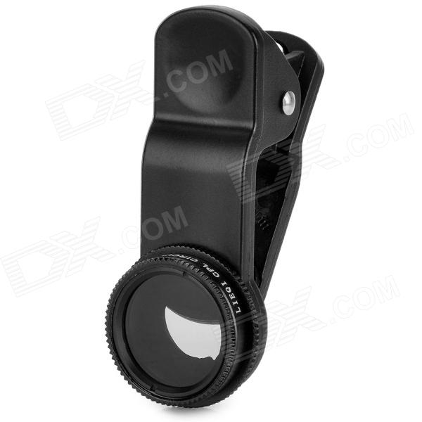 LQ-005 Universal Clip Polarizer CPL Filter Lens for Mobile Phone + Tablet PC - Black