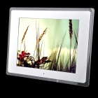 "C131021006 12"" LED Desktop Digital Photo Frame w/ SD / 3.5mm / USB - White (US Plug)"