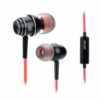 Salar EM-511 3.5mm Super Bass In-ear Earphone w/ Mirophone - Black + Red